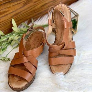 Born platform heeled sandals Sz 8